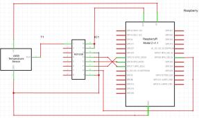 MCP3208-LM35DZ配線図
