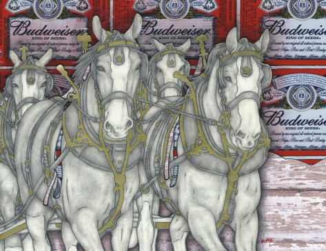 Clydesdales, Winter