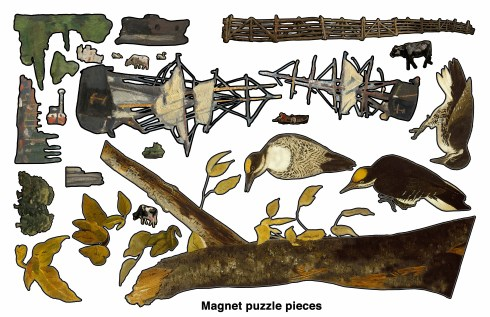 This would be the sheet of magnet puzzles pieces.