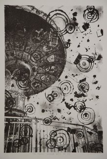"The Great Whirled Spins - State III , 14x19.5"" lithograph"