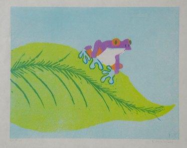 Tree Frog, purple - Relief multiblock, 2011