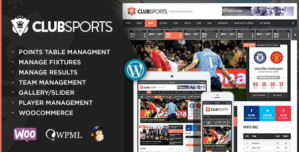 Tema WordPress Club Sports