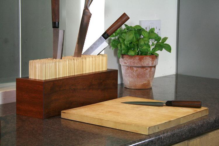 Bloque de cuchillos de bambú
