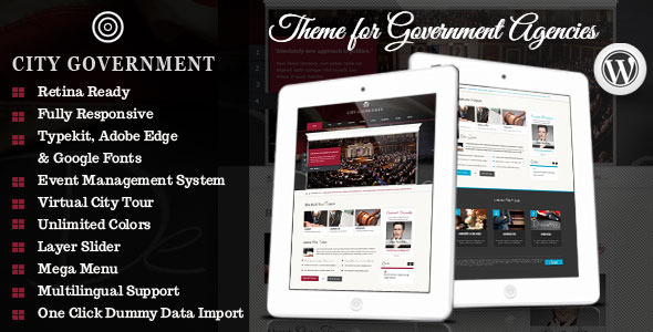 Tema WordPress City Government