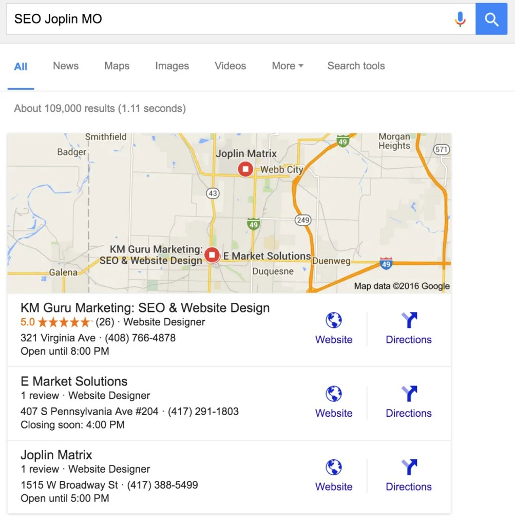 Search Engine Optimization (SEO) Help Joplin MO