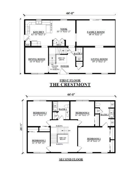 Two story modular floor plans kintner modular homes inc - Modular homes vs site built ...