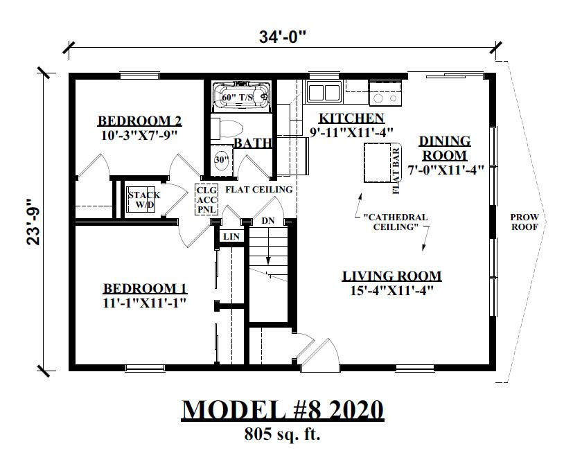Tiny Style Modular Home Floor Plan