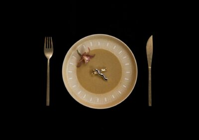 時計のようなお皿