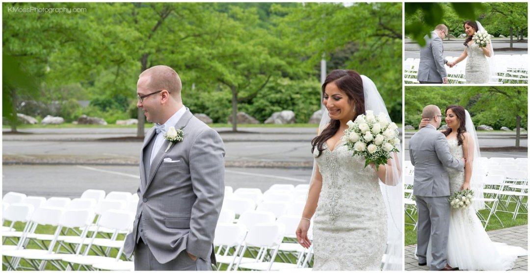 Bride and Groom Wedding First Look Lehigh Valley | K. Moss Photography