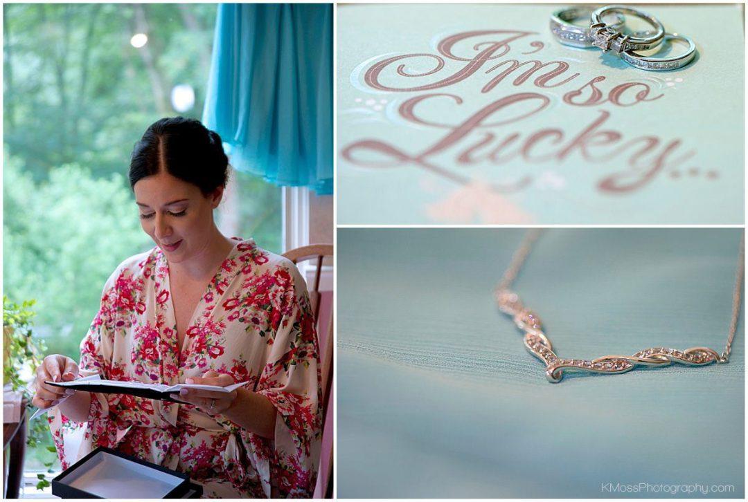 Surprise jewelry wedding gift | K. Moss Photography