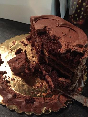 Chocolate cake.... Kirby stole some chunks!