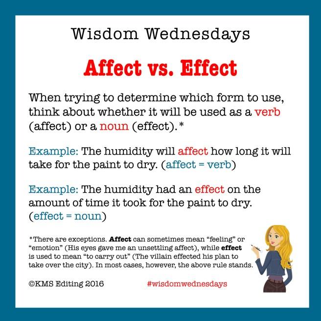 Wisdom Wednesday Affect Effect 072716