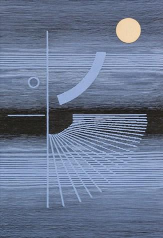 Michel Seuphor, Talita danse à la lune, 1981, Oost-Indische inkt en collage op karton, 74,5 x 52 cm. Collectie Provincie Antwerpen, P/G 213, Foto: Jacques Sonck