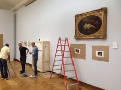Zaterdag 13/9: Er is al aardig wat te zien in de tentoonstelling. En je krijgt een goed beeld van het samenspel van de schilderijen en het gebouw van architect Horta.