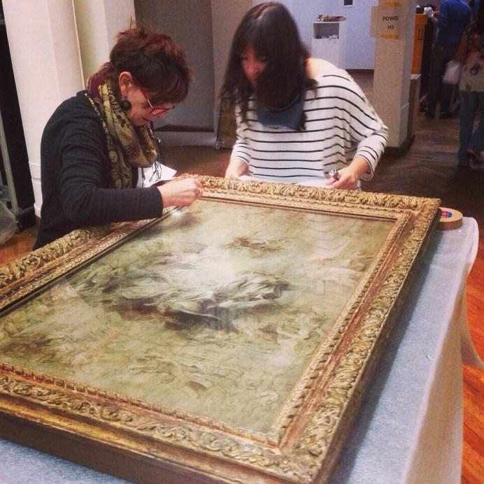 Maandag 15/9: Conditie check van Rubens' ontwerpschets voor het Whitehall-plafond uit de collectie van Tate