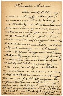 Postkaart van vader De Ridder aan zijn zoon André in Amsterdam, 06/11/1915 - Privécollectie Francine de Ridder