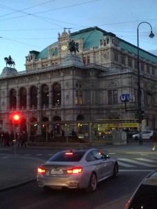 Aankomst in het centrum van Wenen
