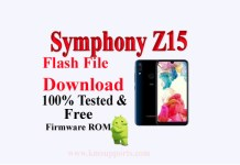 Symphony Z15 Flash File Download Without Password 100% Tested ROM