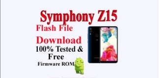 Symphony Z15 Flash File Download Without Password|100% Tested ROM