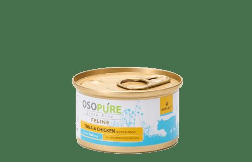 ARTEMIS アーテミス オソピュアグレインフリー ツナ&チキン缶 (猫用)製品イメージ