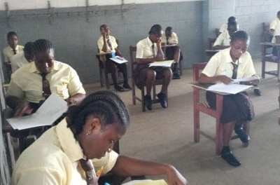 Day one of the WASSCE exams in Liberia.