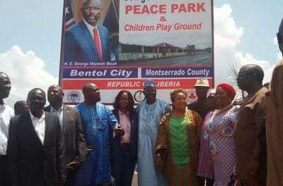 Montserrado County Dedicates Peace Park In Honor Of President George Weah As Fifty Sierra Leonians Get Liberian Citizenship