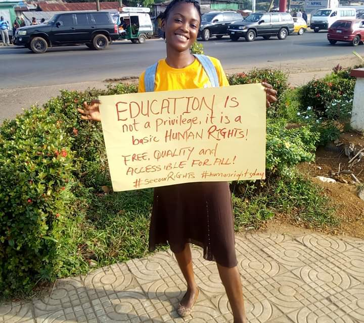 Girls Alliance Celebrats Human Rights Day, Wants Education To Be Affordable To All