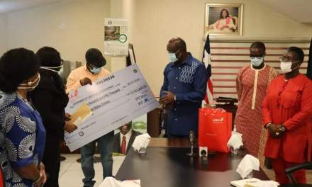 UBA PLC Provides One Hundred Fifty Thousand USD to support Corona Virus fight in Liberia