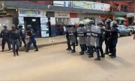 Police Fire Tear Gas to Disperse CoP Protesters