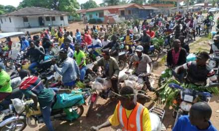In Ganta: Violence Erupts As Aggreived Motorcyclists Demand Rightful Body Of Deceased Colleague