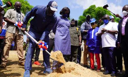 Government Breaks Ground for Hundred Housing Units in Bong County