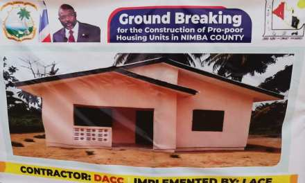 LACE TO CONSTRUCT 100 HOUSING UNITS IN NIMBA