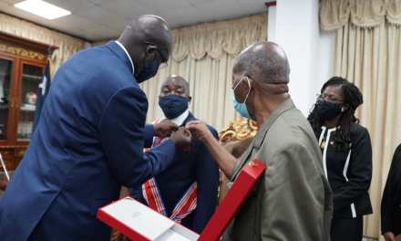 President Weah Admits Dee-Maxwell Kemayah Into Humane Order Of African Redemption