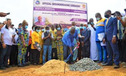 GOVERNMENT OF LIBERIA BREAKS GROUND FOR BOPOLU HOSPITAL PROJECT