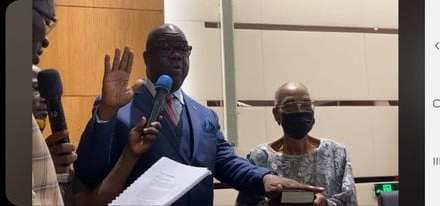Former Representatives Edwin Snowe, Zoe Pennue Officially Inducted As Senators
