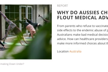 Article: Why do Aussies choose to flout medical advice