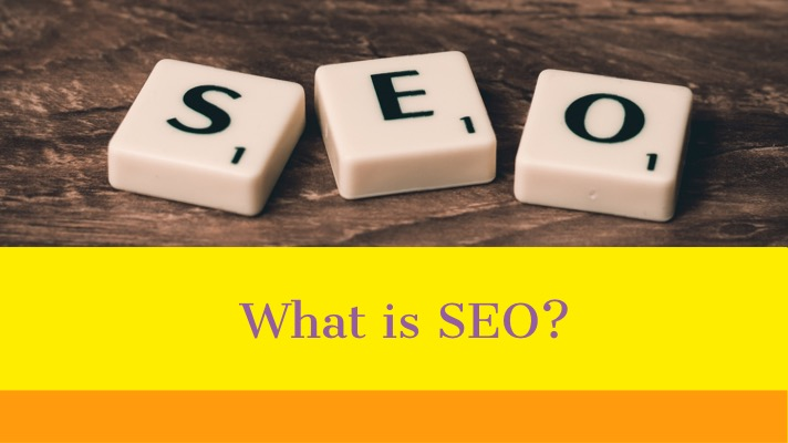 What is SEO?: The sits below an image of scrabble tiles that spell out SEO