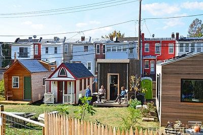 A tiny house village located in Washington D.C. Photo by Inhabitant / Flickr