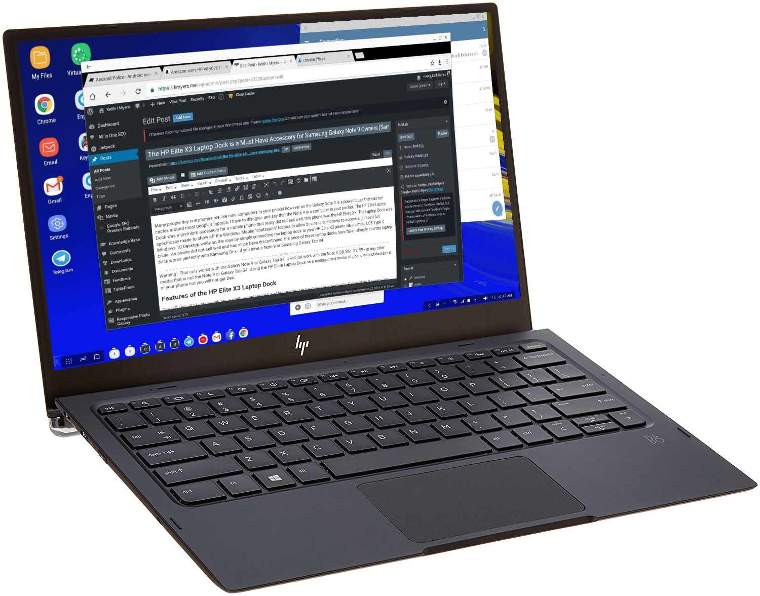 The HP Elite X3 Laptop Dock is a Must Have Accessory for Samsung