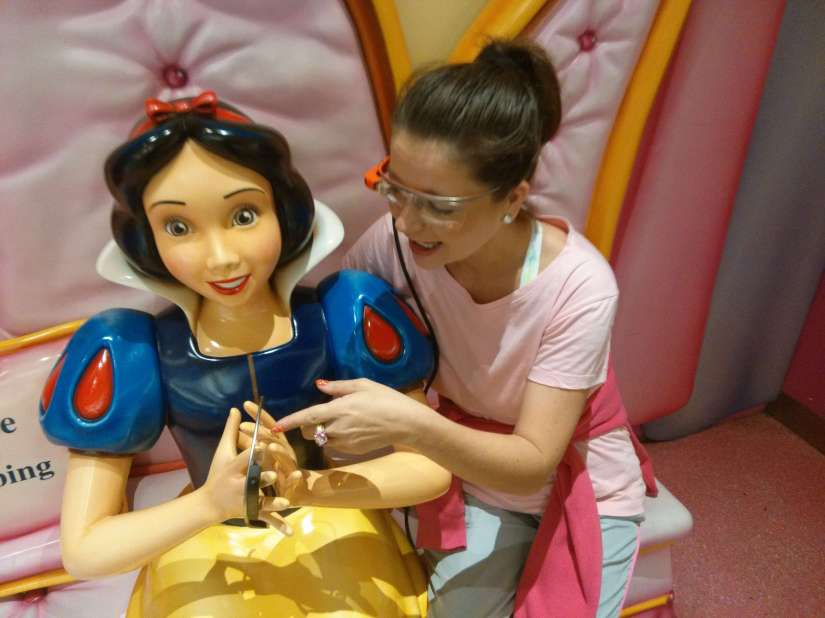 +Chara Kelley us even showing Snow White how to use +Google Glass