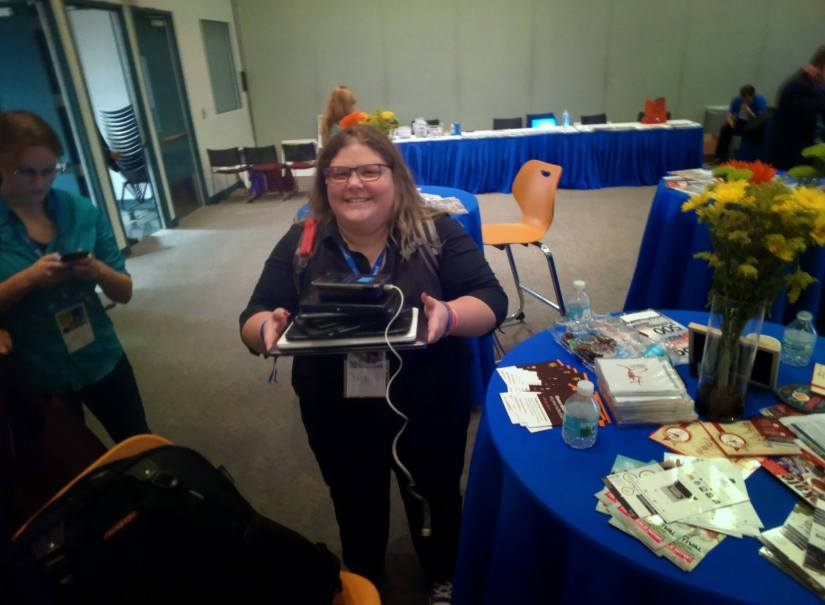 Hey... It's +Jen Vargas trying to steal my tablet collection :)