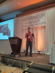 Michael Hall spealing at xda-devcon