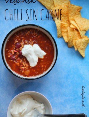 Vegansk chili sin carne