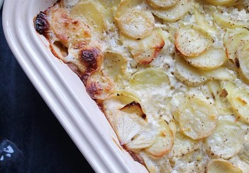 Veganske flødekartofler på to måder