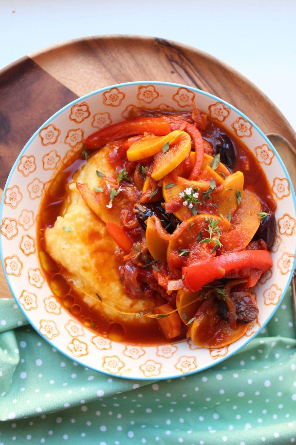 Vegansk ragu med svampe og squash