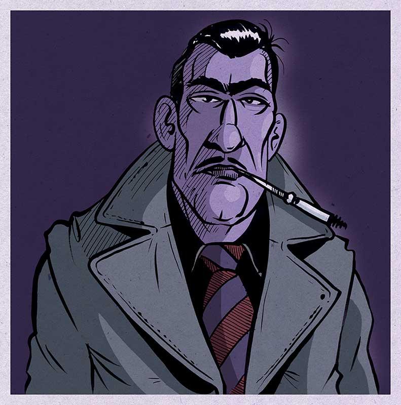 Comic-Illustration-Ganster