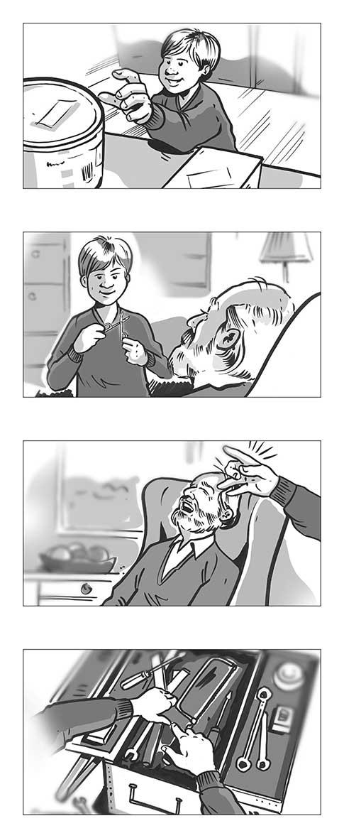 Storyboard Zeichnung