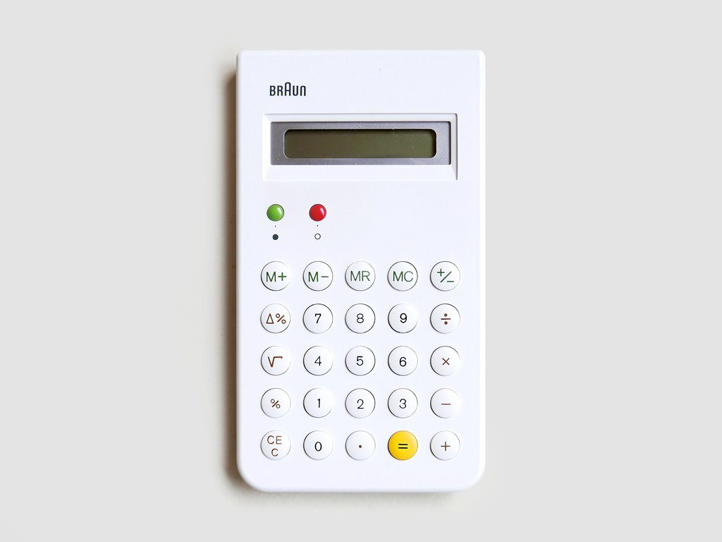 The math checks out: Braun's iconic calculator is back
