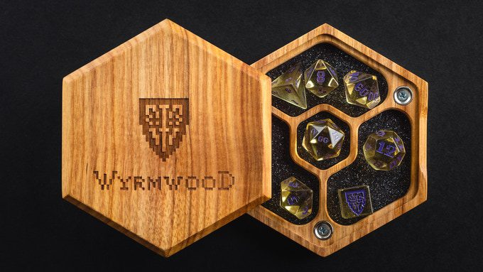You likely know Wyrmwood for their dice accessories – now they're making dice!