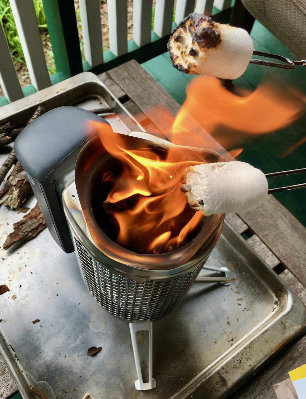 Doing some backyard cooking with the BioLite CampStove 2